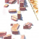JSB watercolor adobe bricks